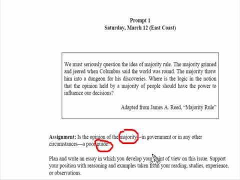 Sample Sat Essay Topics