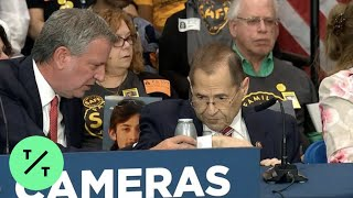 Rep. Jerry Nadler Appears to Faint at News Conference in New York