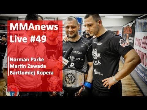 MMAnews Live #49: Parke, Zawada i Kopera na żywo o 19:00