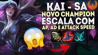 """NOVO CHAMPION """"KAI'SA"""" - ESCALA COM AD,AP E ATTACK SPEED! OP [PT-BR]"""