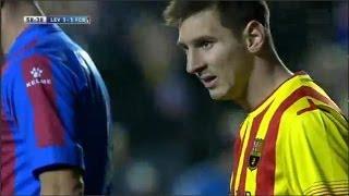 Levante vs Fc Barcelona 1-1 All Goals & Highlights   19/01/2014