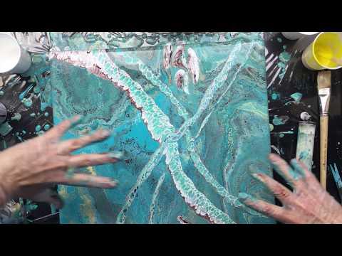 ( 608 ) Big acrylic pour release under pressure