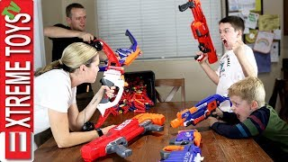 Kids and Parents Round 3! Ethan and Cole Wild Nerf Battle.