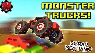 MONSTER TRUCK RACE! - Scrap Mechanic Multiplayer Monday! Ep32