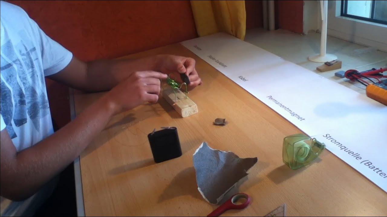 super einfachen elektromotor bauen youtube. Black Bedroom Furniture Sets. Home Design Ideas