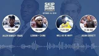 UNDISPUTED Audio Podcast (10.16.19) with Skip Bayless, Shannon Sharpe & Jenny Taft | UNDISPUTED