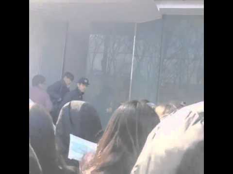 Baekhyun was mad at fans in front of SM building
