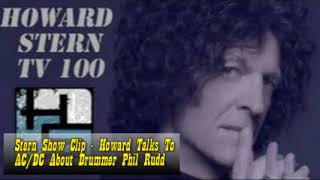 Stern Show Clip   Howard Talks To AC DC About Drummer Phil Rudd