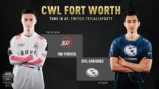 100 Thieves vs Evil Geniuses | CWL Fort Worth 2019 | Day 1
