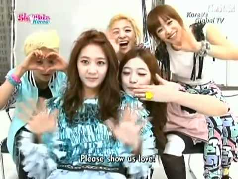 110505 Arirang TV Showbiz Korea - f(x)'s Pinocchio Album Cover + MV Shoot BTS