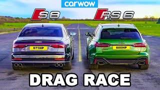 Audi S8 v Audi RS6 - DRAG RACE