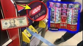 $20 Arcade Ticket Vending Machine Challenge! | JOYSTICK