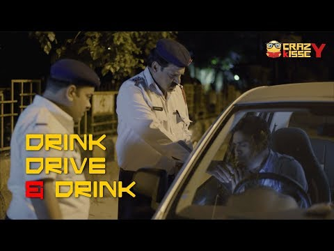 Funny Policeman and Drunken Driving | Drink Drive & Drink | Drunk Driving Comic Short film