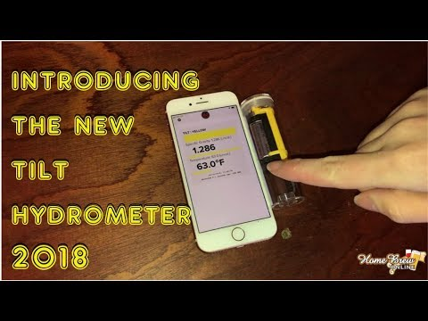 Tilt™ Hydrometer and Thermometer - Yellow