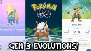 COMPLETED GEN 3 EVOLUTIONS IN POKEMON GO! ALL GEN 3 POKEDEX ENTRIES!