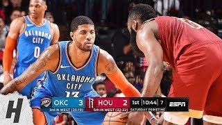Oklahoma City Thunder vs Houston Rockets - Full Game Highlights   February 9, 2019   2018-19 Season