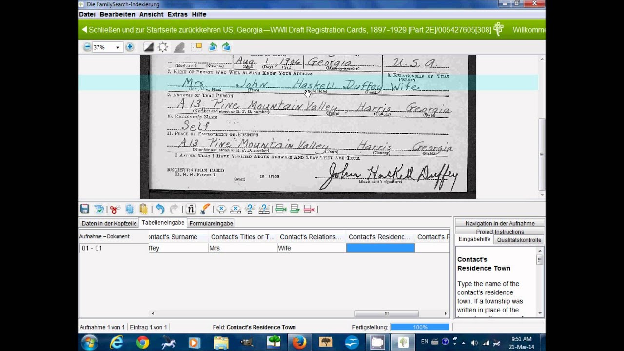 FamilySearch Indexing: How to Index US, Georgia - WWII ...