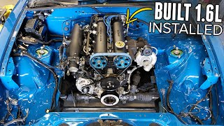 Turbo Miata Gets Its BUILT, HIGH COMPRESSION 1.6L & Flex Fuel Sensor!