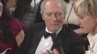 Oscar® Host Ellen DeGeneres with Clint Eastwood