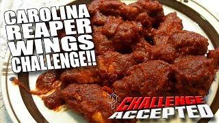 CAROLINA REAPER WINGS CHALLENGE │ WORLD'S HOTTEST PEPPER!!