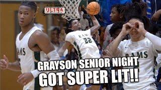 Grayson SENIOR NIGHT WAS LIT!!   CRAZY OOPS