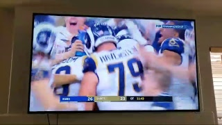 Rams Vs Saints Greg Zuerline sends LA Rams to Superbowl in OT By kicking clutch 57 yard field goal