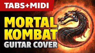Mortal Kombat Theme (Acoustic Fingerstyle Guitar Cover and MIDI by Kaminari)