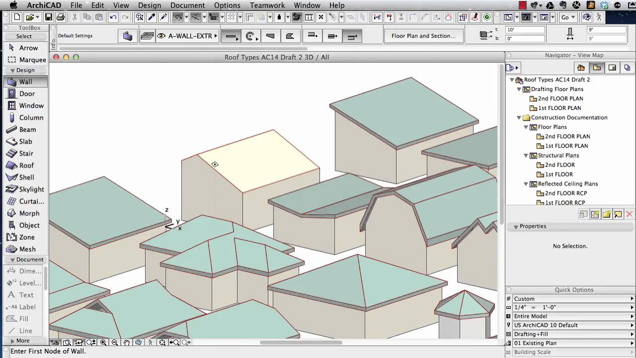 Archicad Tutorial Roof Modeling In Archicad 15 And Above