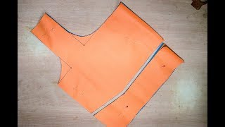 simple method to blouse cutting in tamil   simple blouse pa neck cutting in easy method