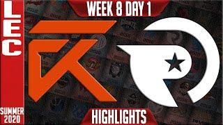 XL vs OG Highlights   LEC Summer 2020 W8D1   Excel Esports vs Origen