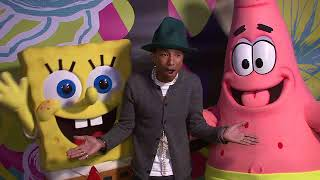 EVENT CAPSULE CHYRON - Pharrell Williams Celebrates 41st Birthday with SpongeBob SquarePants-Themed