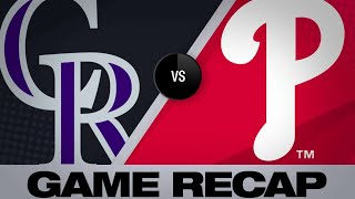 5/18/19: Harper and Nola power Phillies past Rockies