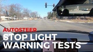Tesla Autosteer Stop Light Warning Tests