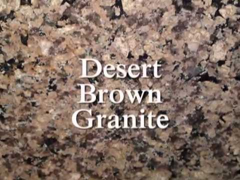 Charlotte Granite Countertops Desert Brown White Cabinets