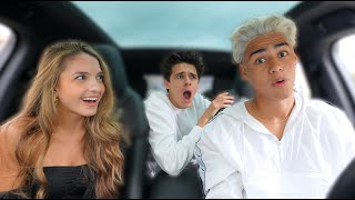 SURPRISING MY FRIENDS WITH SILVER HAIR!!