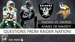 Raiders Trade Questions On Jalen Ramsey & Jamal Adams, Derek Carr's Future + Free Agent WR Targets