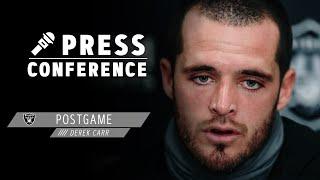 Derek Carr Postgame Presser - 9.13.20 | Las Vegas Raiders