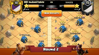 Clan War Leagues - TH12 Attacks - Clash Of Clans - Round 2 (Season 3)