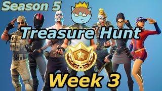Week 3 Treasure hunt flush factory map and secret Battle star