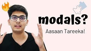 WHAT ARE MODALS? | Easiest Explanation in Hindi | Usage & Examples | Spoken English