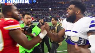 Watch: Ezekiel Elliott swap jerseys with Kareem Hunt