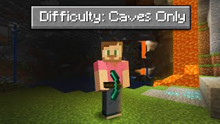 Can You Beat Minecraft In A Cave ONLY World?