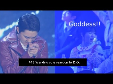 [wensoo] EXO D.O. & RED VELVET WENDY moments #13 - Wendy's cute reaction to D.O.