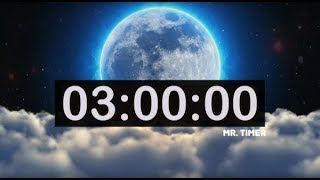 3 Hour Countdown Timer with Relaxing Instrumental Deep Sleep Music! Time To Sleep Timer for Kids!
