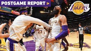 Postgame Report: Tyson Chandler's Block Seals Lakers 107-106 Win Over Atlanta