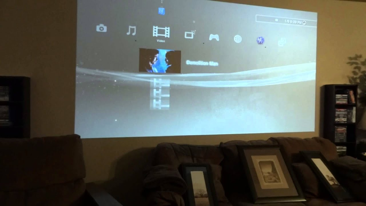 Projector Projecting Onto Wall No Screen Youtube