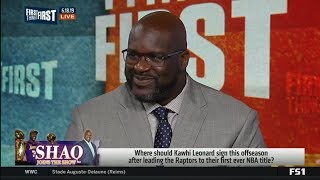 FIRST THINGS FIRST | Shaq RESPOND: Where should Kawhi sign offseason after win NBA title with TOR?