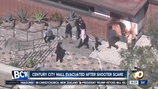 Century City mall evacuated after shooter scare