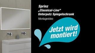 """Montagevideo Sprinz """"Classical-Line"""" Unterputz-Spiegelschrank"""