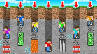 We DUG STRAIGHT DOWN 100 Times in Minecraft and This Happened…